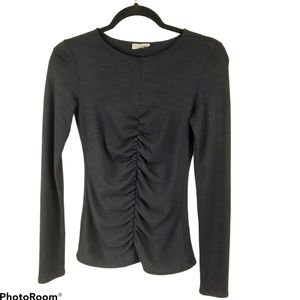 Aritzia Wilfred Free Cascade Ruched Blouse sz S